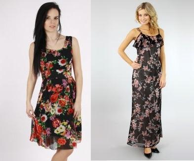 Jarní šaty s květy pro volný čas i do práce