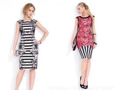 Elegantnější varianta šatů do společnosti s květinovým potiskem