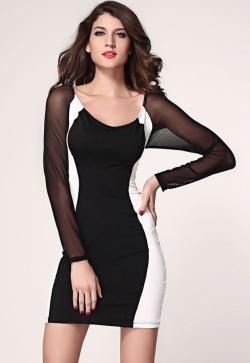 Pokud se chystáte na nějakou společenskou událost, šaty v černo-bílé kombinaci jsou ideální volbou.