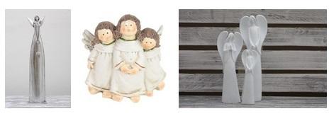 K Vánocům patří neodmyslitelně andílci. Co říkáte těmto keramickým nebo v provedení z kovu? Jsou nejen krásnou dekorací, ale také milým dárkem, který určitě potěší.
