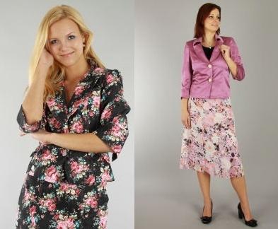 Květinové sako rovněž vynosíte a lehkou květinovou sukni oceníte zejména v teplých jarních dnech