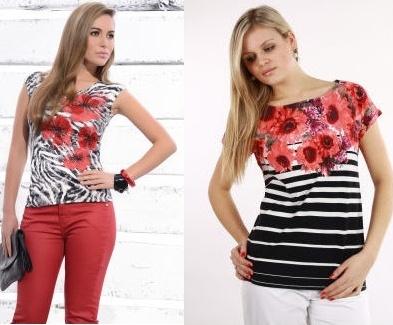 Elegantní trička s květinovým potiskem se hodí ke každé ženě